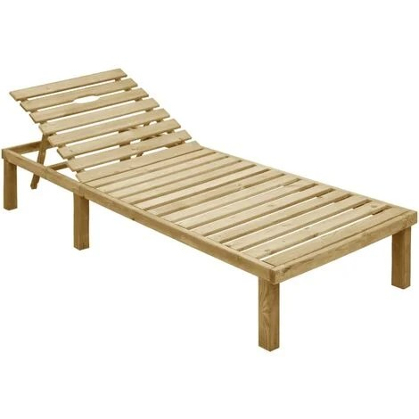 chaise longue bois a prix mini