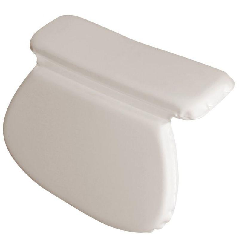 coussin oreiller de bain avec ventouses pour baignoire spa jacuzzi blanc vivezen