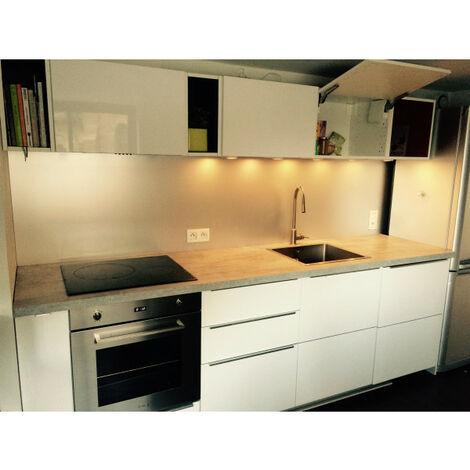 credence de cuisine en aluminium anodise de 1 5mm hauteur 60 cm plusieurs largeurs disponibles
