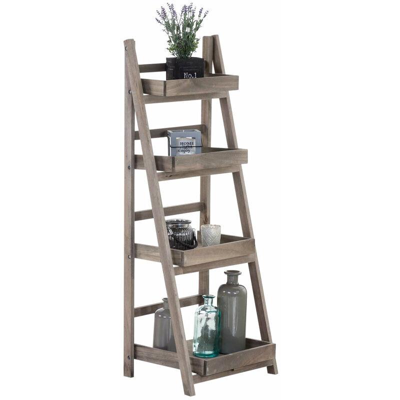 echelle etagere escaliers 4 niveaux en bois pliable meuble rangement noir