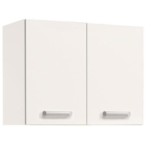 element haut de cuisine 80 cm blanc brillant h 57 x l 80 x p 35 cm pegane