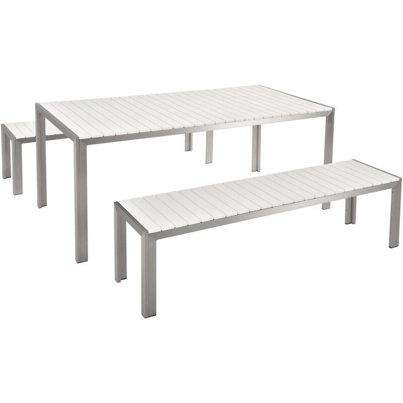 aluminium et bois composite blanc nardo