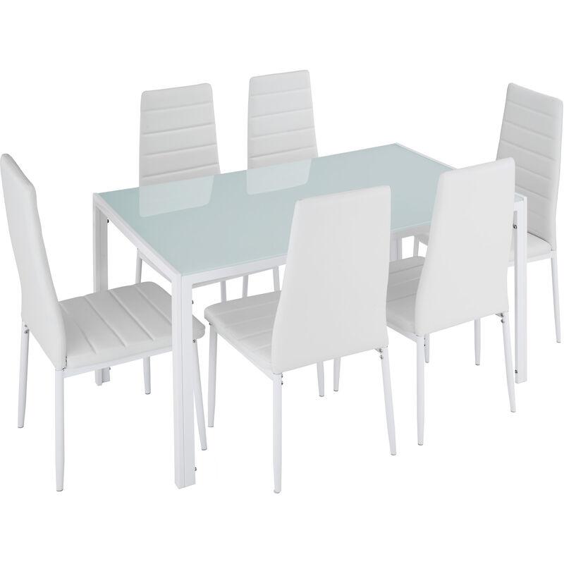 ensemble table 6 chaises
