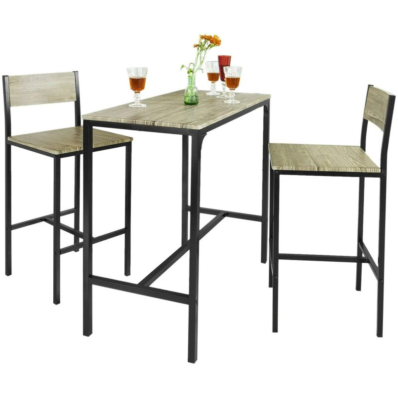 ensemble table de bar 2 chaises set de 1 table 2 chaises table haute cuisine sobuy ogt03 n