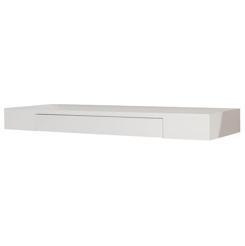 etagere murale avec tiroir jenkins bois blanc l 80cm