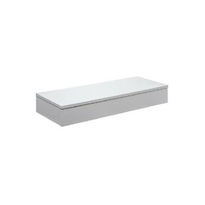 etagere murale blanche avec tiroir blanc