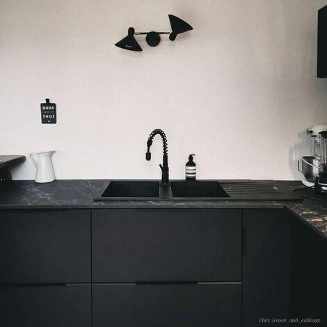 evier granit noir albey 2 bacs 1