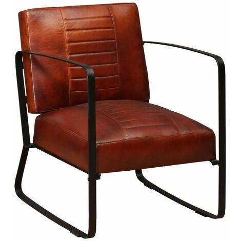 fauteuil marron a prix mini
