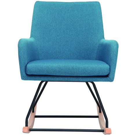 fauteuil scandinave bleu a prix mini