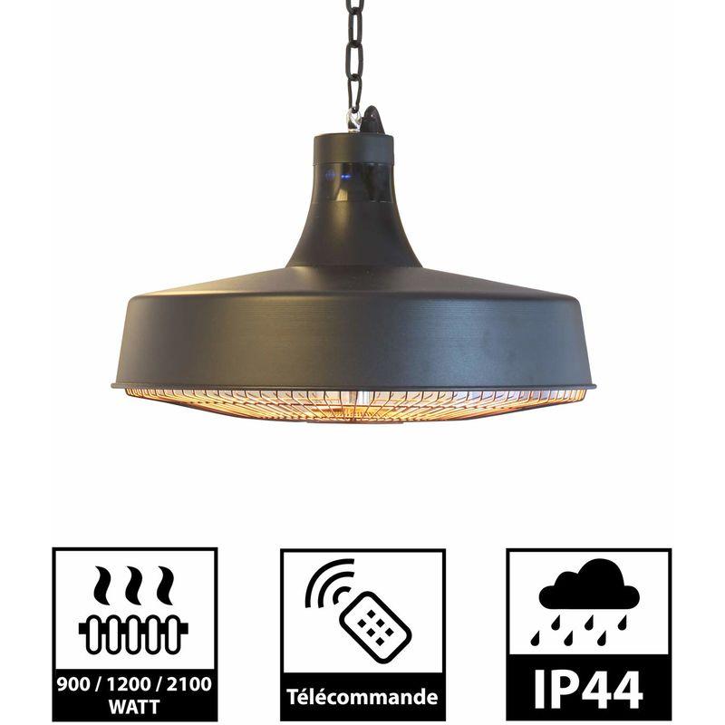 greaden parasol chauffant suspendu infrarouge haumea telecommande chauffage electrique de terrasse a halogene 2100w ip44 reglable radiateur