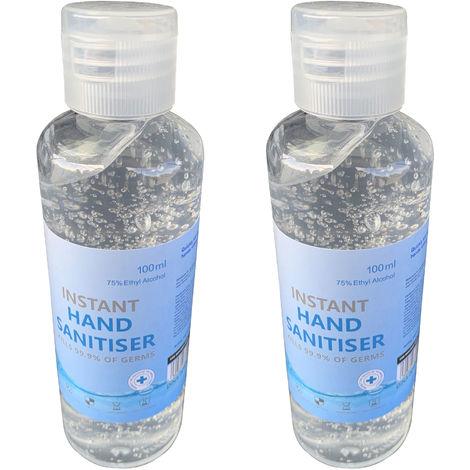 Hand Sanitiser Gel Instant Liquid Sanitizer Odorless 75% ...