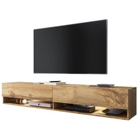 selsey wander meuble tv banc tv chene wotan 180 cm eclairage led