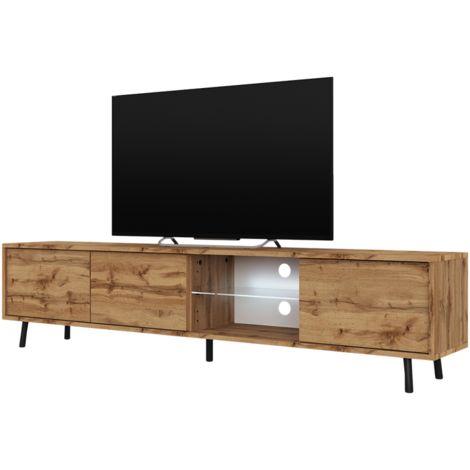 selsey galhad meuble tv banc tv chene wotan 175 cm eclairage led
