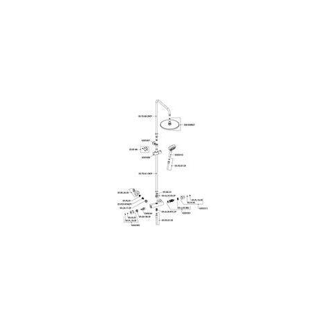 colonne de douche alterna concerto avec mitigeur thermostatique chrome ref pec8243021