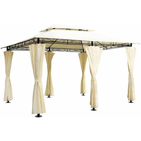 tonnelle topas pavillon tente de jardin barnum 4x3 m exterieur fete beige