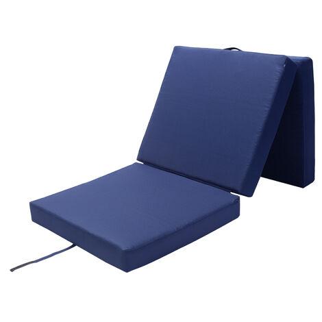 Matelas Pliant De Voyage Matelas D Appoint Pliable Lit Futon Pouf Pliant Avec Housse 190x70x10 Cm Bleu 108471