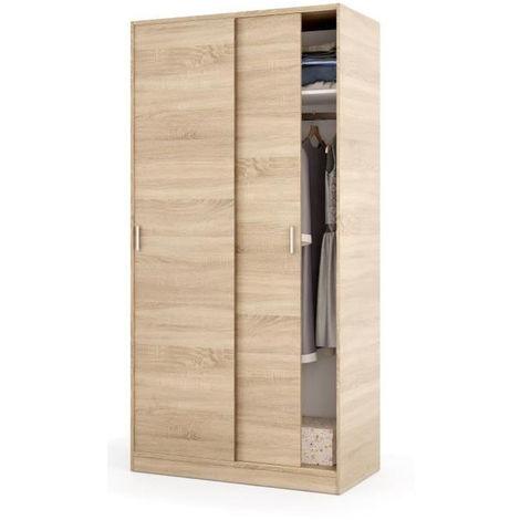 armoire avec 2 portes coulissantes