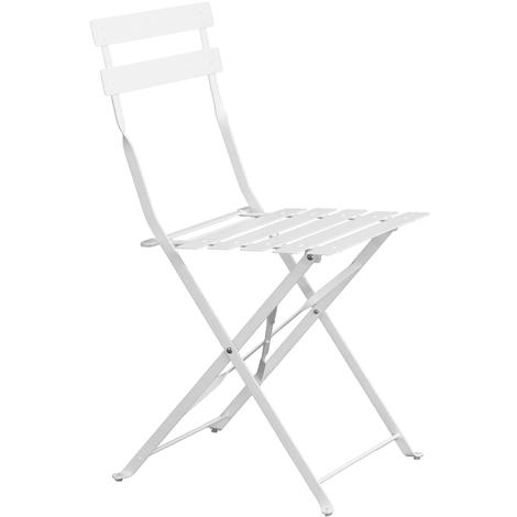chaise de jardin pliante blanc mat dim 41 x 46 x 80 cm pegane