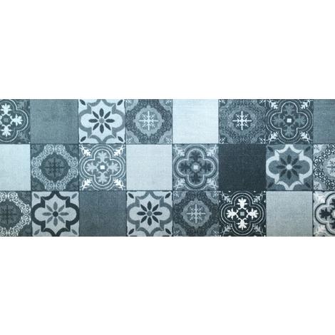 tapis de cuisine en polyamide carreaux de ciment dim 50 x 120 cm pegane