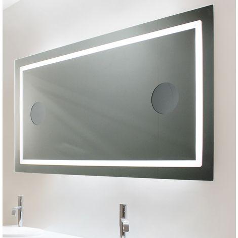 Miroir De Salle De Bains Avec Eclairage Led Modele 120 65 Cm X 120 Cm Hxl 3283425566468