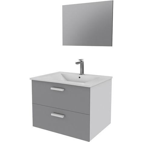 ensemble design de salle de bain gris