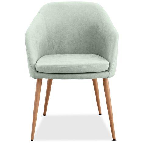 Mc Haus - Poltrona LARA design nordico sala pranzo 51,5x53,5x85cm Verde Acqua