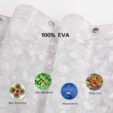 rideau de douche anti moisissure etanche a la baignoire 100 eva 183 x 200 cm incl 12 anneaux de rideau de douche