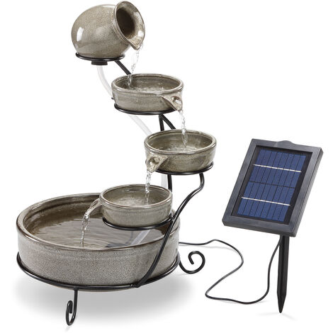 fontaine a cascade solaire jardin fontaine solaire fontaine de jardin fontaine esotec 101306