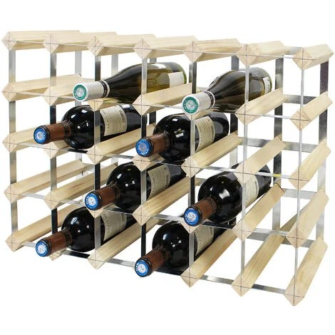 range bouteille 56x32x110 cm bois de