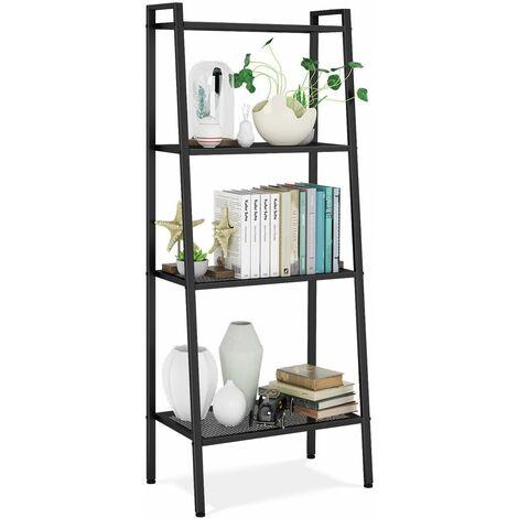 etagere de rangement meuble homfa metal avec 4 tablette pour chambre cuisine salon 60x35x147cm