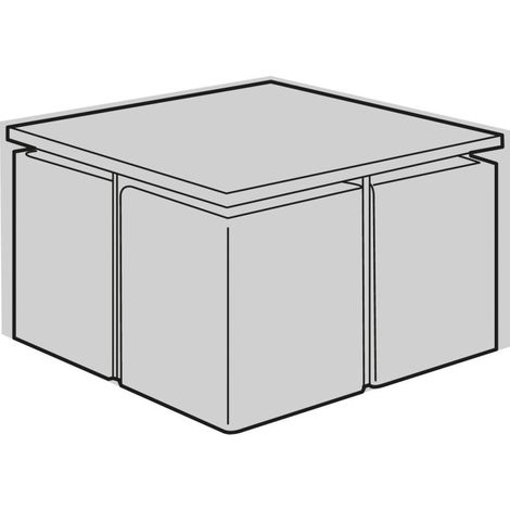 housse de protection salon de jardin carre cube noir