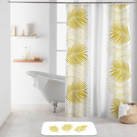 rideau de douche 180 x 200 cm polyester imprime orbella blanc