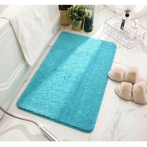 triomphe tapis antiderapant pour salle de bain tapis de sol absorbant tapis de chambre bleu ciel 40x60cm