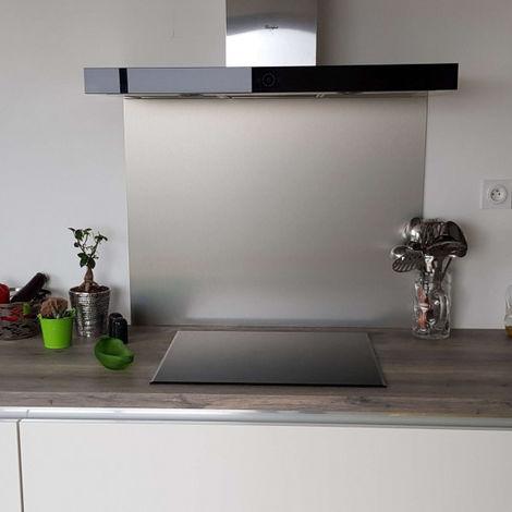 credence en aluminium brosse composite hauteur 60 cm plusieurs largeurs disponibles