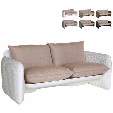 Un salotto moderno, elegante e di design minimal da 4 posti. Divano Da Interno Ed Esterno Giardino Design Moderno Slide Mara Sofa Colore Bianco