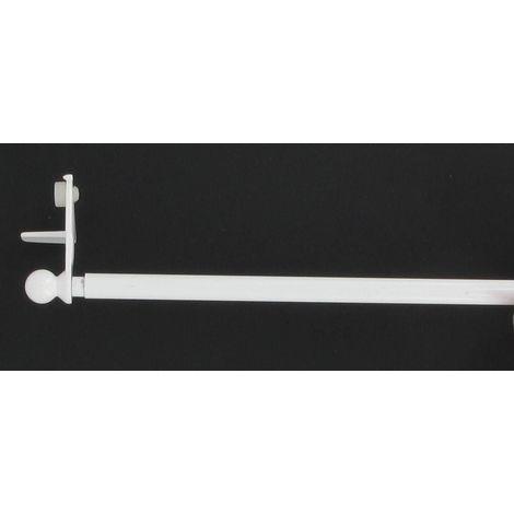 tringle autobloquante sans percage fix vit blanc extensible de 80 a 120 cm