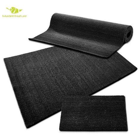 paillasson en fibre de coco tapis d entree anthracite paillasson au metre largeur 120cm hauteur 17mm 50 cm