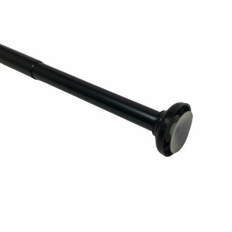 tringle a rideau extensible par pression entre 2 murs o 20 x 140 a 260cm coloris noir noir