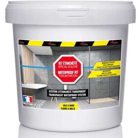 etancheite transparente douche salle de bain sur carrelage en kit arcane industries transparent kit de 2m2