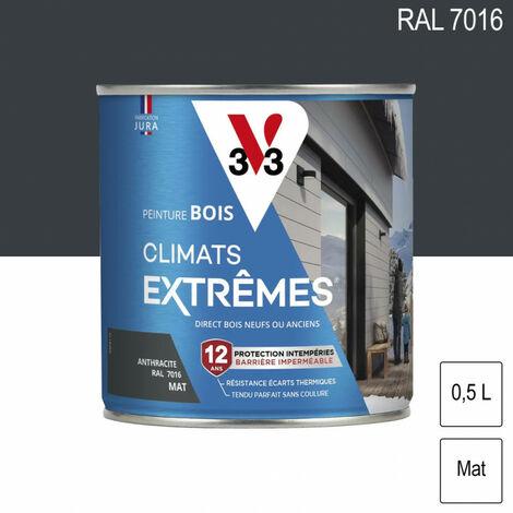peinture bois climat extreme mat 0 5l teinte au choix v33 gris anthracite teinte gris anthracite