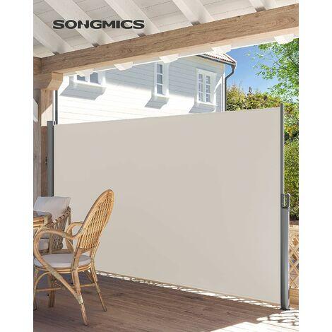 2 x 3 5 m h x l store lateral brise vue retractable paravent pare soleil pour balcon patio terrasse et jardin avec fixation au sol