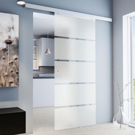 porte coulissante interieure en verre depoli inova 102 x 220 cm porte vitree opaques 3 poignees differentes fermeture softclose en option