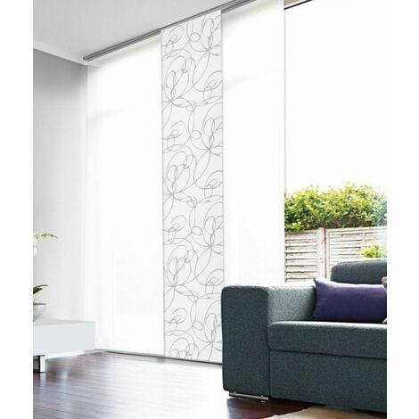 panneau japonais tamisant zig zag 50cm blanc l50 x h250cm blanc