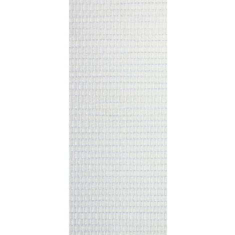 panneau japonais tamisant paille tissee blanc l45 x h260cm blanc