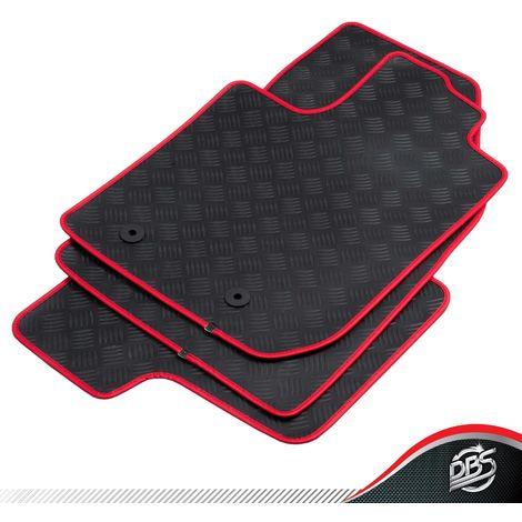 dbs tapis voiture sur mesure duster de 2018 a 2020 rouge tapis de sol auto en caoutchouc 3 pieces avant arriere systeme antiderapant