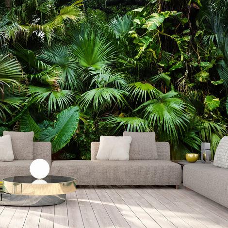 Dal design contemporaneo.effetti, materiali, marchi e prezzi al mq e come rimuoverla. Carta Da Parati Sunny Jungle Colori Verde Dimensioni 150x105