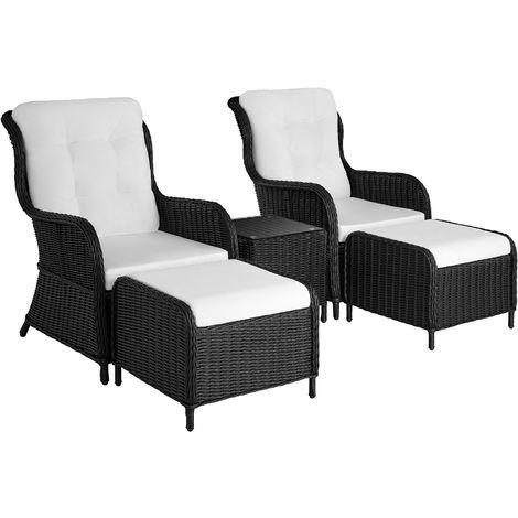 salon de jardin benissa mobilier de jardin meuble de jardin ensemble table et chaises de jardin noir
