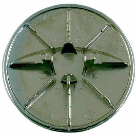 capot abs chrome d 85 pour bonde receveur turboflow d 60