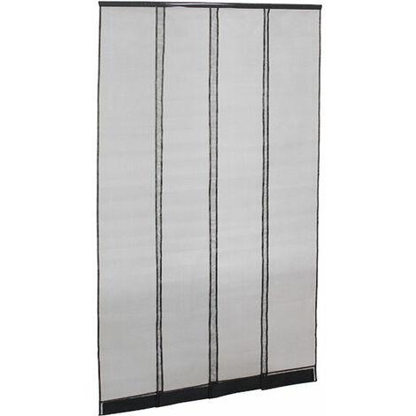 adjustable fly screen door curtain black w950 x h2150mm