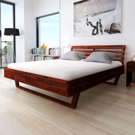 cadre de lit bois d acacia massif 180x200 cm